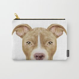 Pit Bull light Brown 2,Dog illustration original painting print Carry-All Pouch