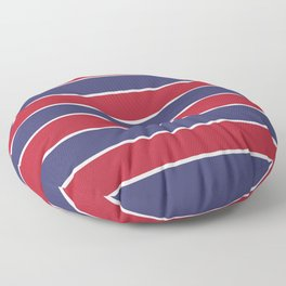 Large Red White and Blue USA Memorial Day Holiday Horizontal Cabana Stripes Floor Pillow