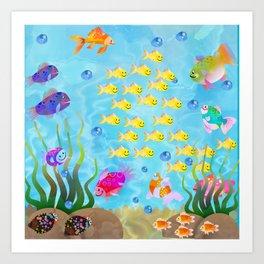 Tropical Sea Life Art Print