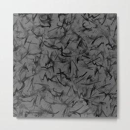 Modern Zings and Zags Pattern Metal Print
