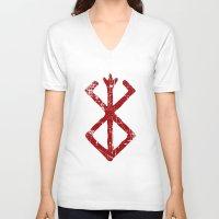 berserk V-neck T-shirts featuring berserk by skymerol