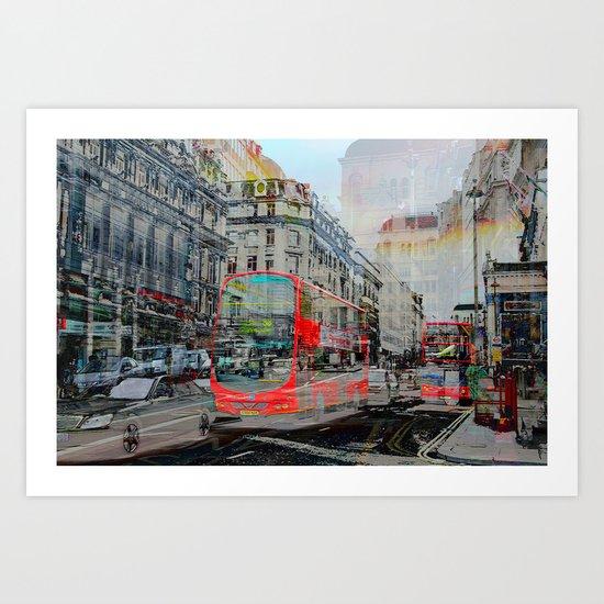 London IX - Red Buses Art Print