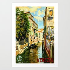 Venezia - Venice Italy Vintage Travel Art Print