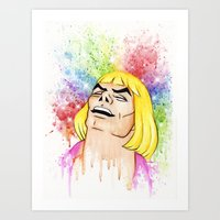he man Art Prints featuring He-Man by Creadoorm