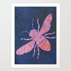 batik Bee Art Print