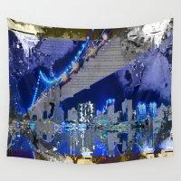 brooklyn bridge Wall Tapestries featuring Brooklyn Bridge by Robin Curtiss