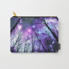 Black Trees Lavender Pink Blue Space Carry-All Pouch
