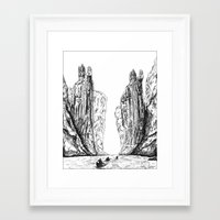 guardians Framed Art Prints featuring Guardians  by AlexanderSattler