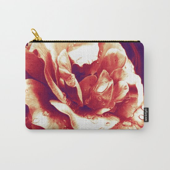 Morning Rose - Red Carry-All Pouch