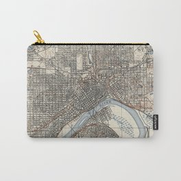 Vintage Map of St. Paul Minnesota (1894) Carry-All Pouch