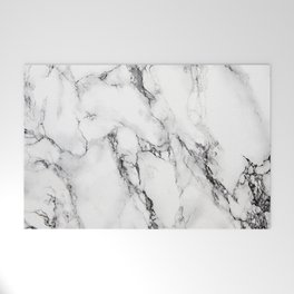White Marble Texture Welcome Mat