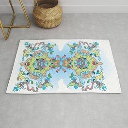 Persian tile earth to sky Rug