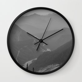 Nisqually River Valley Wall Clock