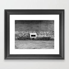 Campsite under the Bridge Framed Art Print