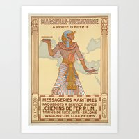 egypt Art Prints featuring EGYPT by Kathead Tarot/David Rivera