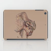 bison iPad Cases featuring Bison by Ursula Rodgers
