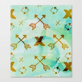 Watercolor Arrows Canvas Print