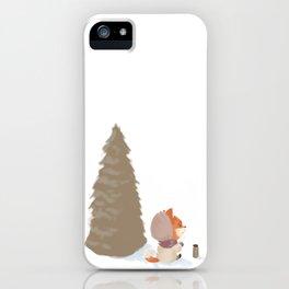 Winter Fox Tree iPhone Case
