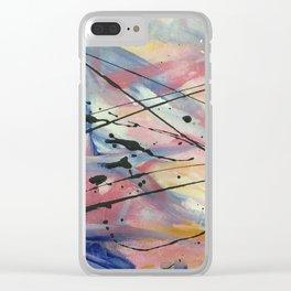 Faded Fabric (nail polish art) Clear iPhone Case