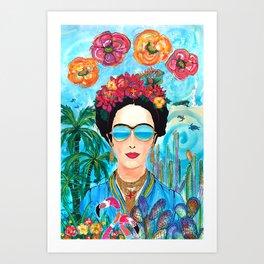 Frida Aruba Art Print