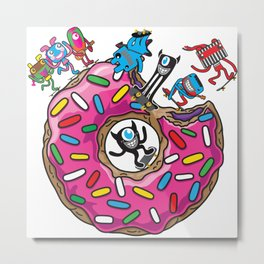 Skate Donut Metal Print