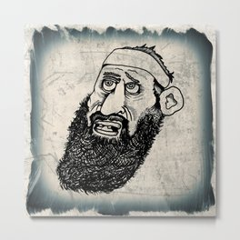 Bearded Gent from the Motorcycle Club Metal Print