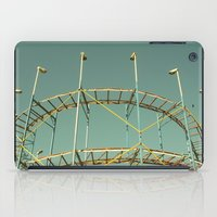 coasters iPad Cases featuring rollercoaster by Bianca Green