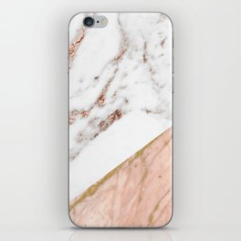 Marble rose gold blended iPhone Skin