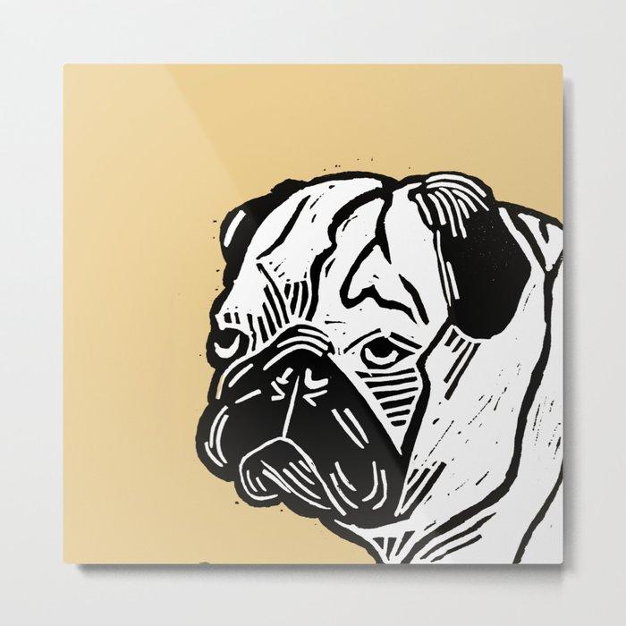 Grumpy Pug  Metal Print