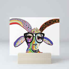 Hipster Goat Mini Art Print