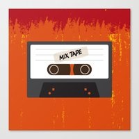 cassette Canvas Prints featuring Cassette by Ruveyda & Emre