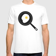 Fried Egg White SMALL Mens Fitted Tee