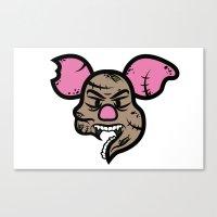 piglet Canvas Prints featuring Zombie Piglet by Kojó Tamás