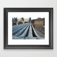 bridged.  Framed Art Print