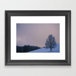 Winter Sunrise Framed Art Print