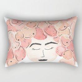 The girl with the tangerine hair. Rectangular Pillow