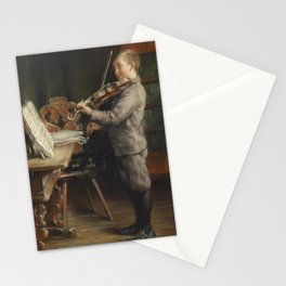 Otto Piltz - Boy playing the violin Stationery Cards