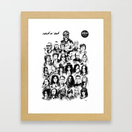 Rock n INK Framed Art Print