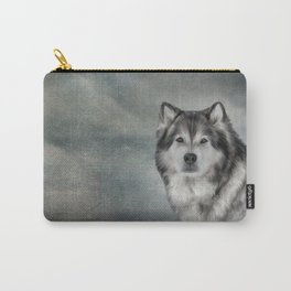 Drawing Dog Alaskan Malamute Carry-All Pouch
