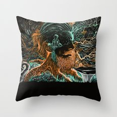 Glow Worms Throw Pillow
