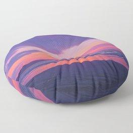 Broken sunset by #Bizzartino Floor Pillow