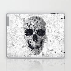 Doodle Skull BW Laptop & iPad Skin