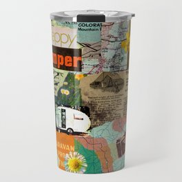 RETRO CAMPING COLLAGE Travel Mug