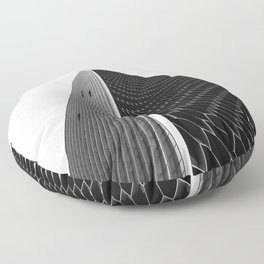 Pinnacle    black and white architecture photography    SINGAPORE Floor Pillow