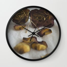 Wishbone and Roses Wall Clock