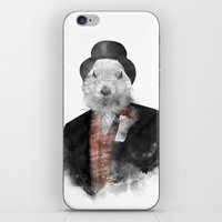 phil jones iPhone & iPod Skins featuring Mr. Phil by Robert Farkas