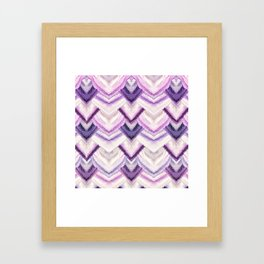 PARADISE PATTERN ULTRA VIOLET Framed Art Print
