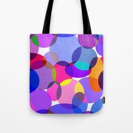 Pink and Purple Toned Layered Circles! Tote Bag