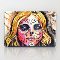 dia de los muertos iPad Cases featuring Dia De Los Muertos by Liz Haywood