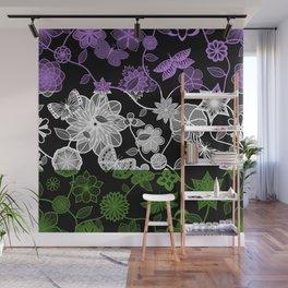 Butterfly Garden, Pride Flag Series - Genderqueer Wall Mural